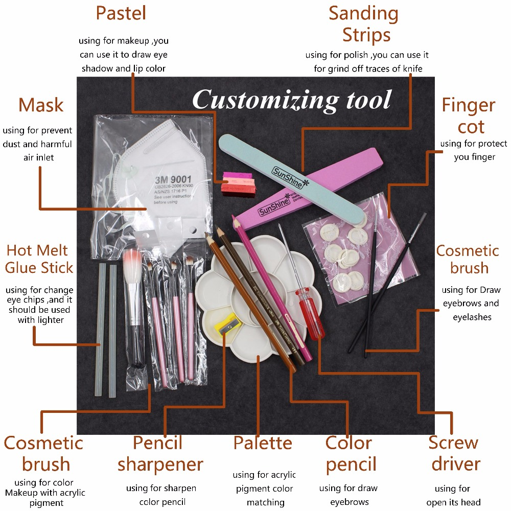 Blythe Doll Makeup Customization Toolkit 1