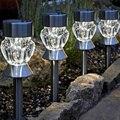 4 pcs À Prova D' Água LED Inserido no chão do gramado ao ar livre luz solar rua lâmpada luz decoração do jardim ao ar livre iluminação