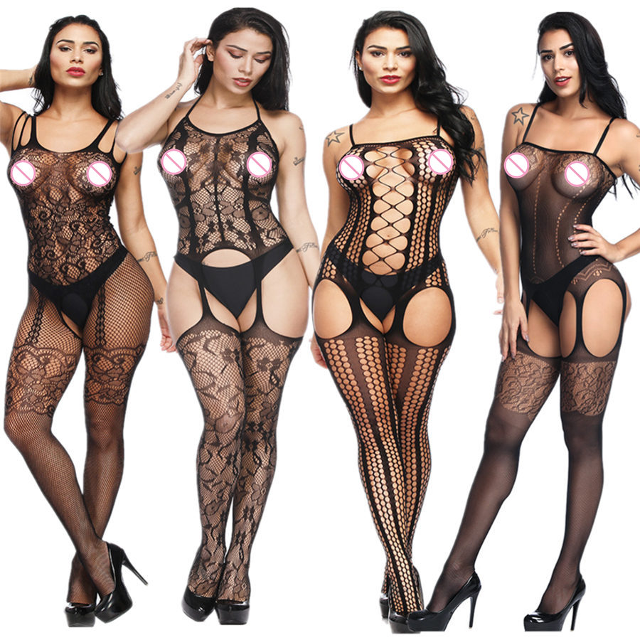 Women Lingerie Sexy Hot Erotic Body Suit Sexy Costumes Bodystockings Sex Erotic Open Crotch Open Bra Teddy Lingerie Crotchless