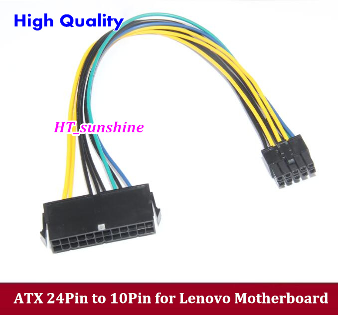 DHL/EMS Free Shipping 30cm PSU ATX 24Pin to 10Pin Power Supply Cable Cord for Lenovo Motherboard dhl ems free shipping uhp200w 1 3 p22 5 original oem lamp bulb