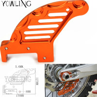 Motorcycle CNC Aluminum Orange Autobike Rear Brake Disc Guard Potector For KTM 400 XCW 2007 2017