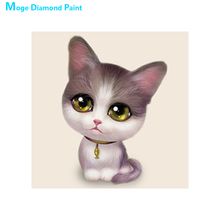 Cute little animals cat Diamond Painting Full Round Kitty Cartoon New DIY Sticking Drill Cross Embroidery 5D children simple dog and cat diamond painting full round animals new diy sticking drill cross embroidery 5d cartoon simple home decoration