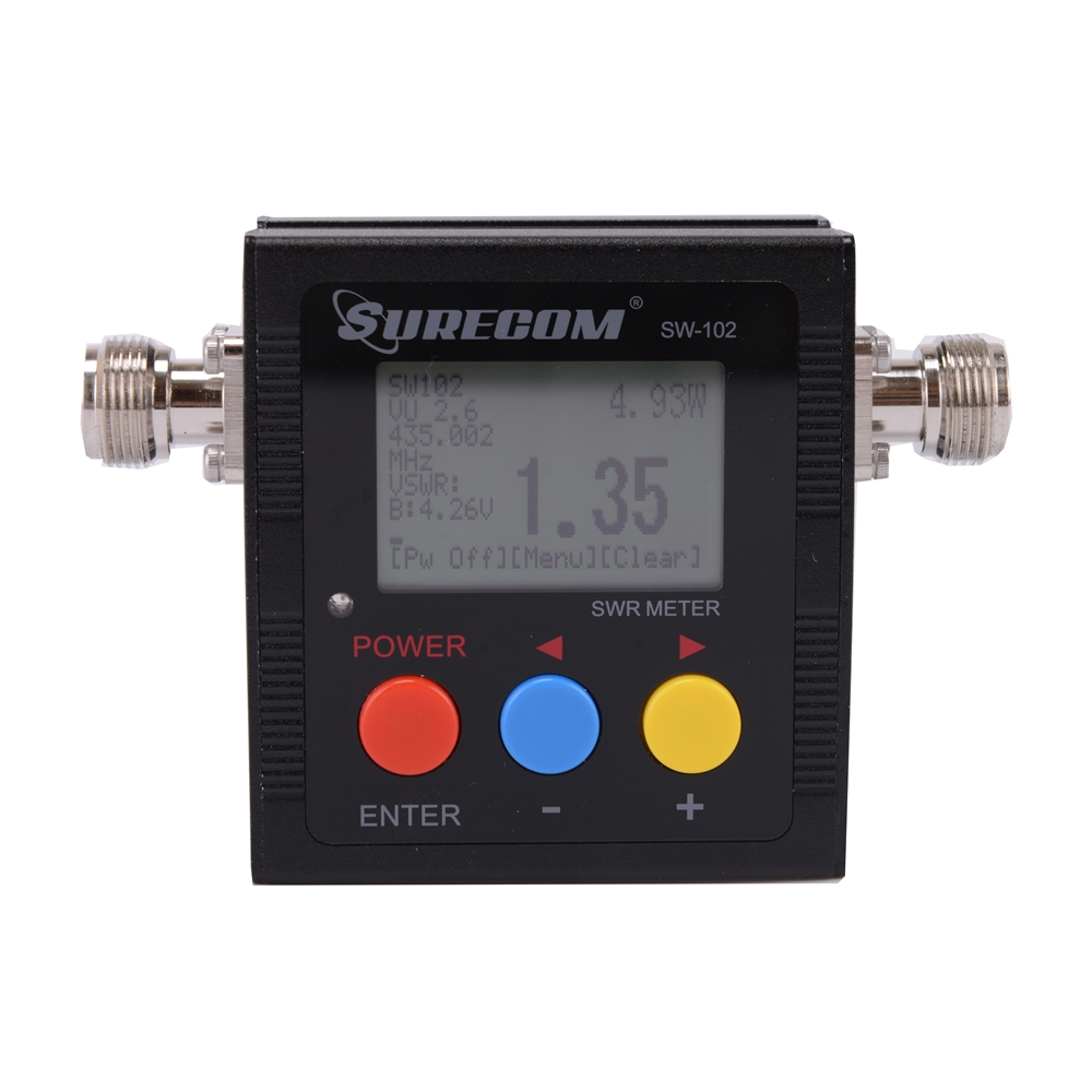 409SHOP מוצר SW-102 SW102 vswr 125MHz ~ 525MHz N connectormeter - ווקי טוקי