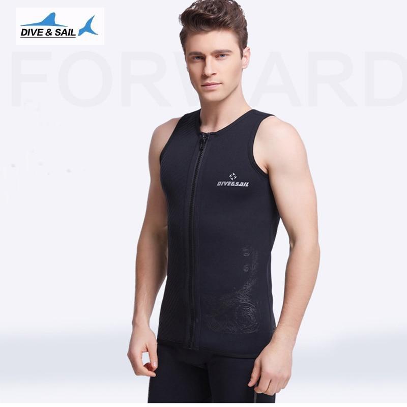 3MM Neopren Neopren fără mâneci Jumpsuit Bărbați Wetsuit Scuba - Imbracaminte sport si accesorii - Fotografie 3