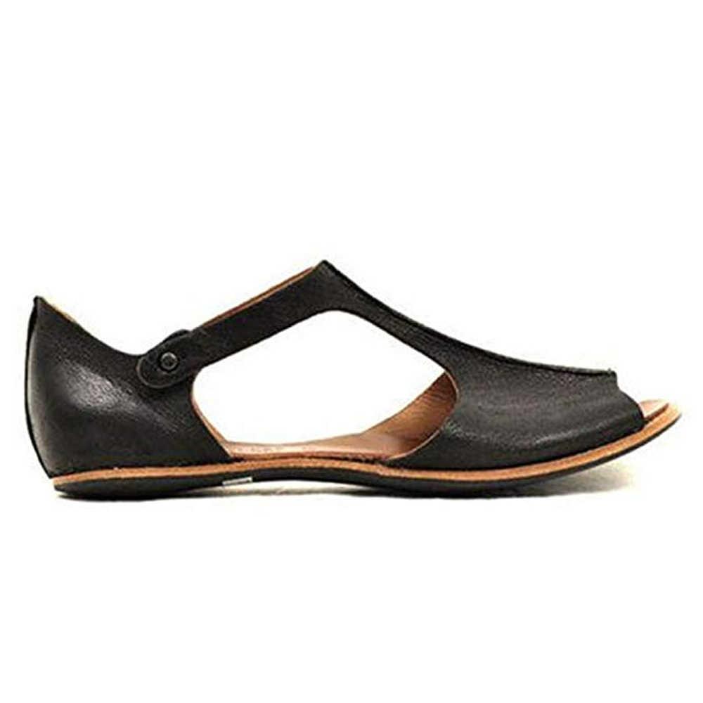2019 Summer Women PU Leather Shoes Comfy Platform Flats Sole Ladies Casual Soft Slides Buckle Women Sandals zapatos de mujer