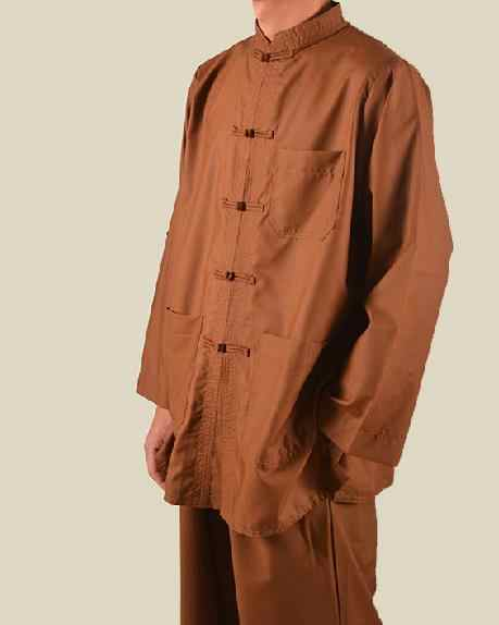 ユニセックスコーヒー夏 & 春禅スーツ仏教制服唐スーツレイ瞑想衣装少林寺の僧の服