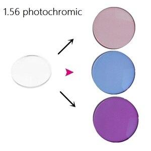 Image 1 - 1.56 photochromic משקפי שמש מיופיה ורוד כחול סגול צבע סרט מעומעם קוצר ראיה שרף משקפיים מרשם עדשות לעיניים