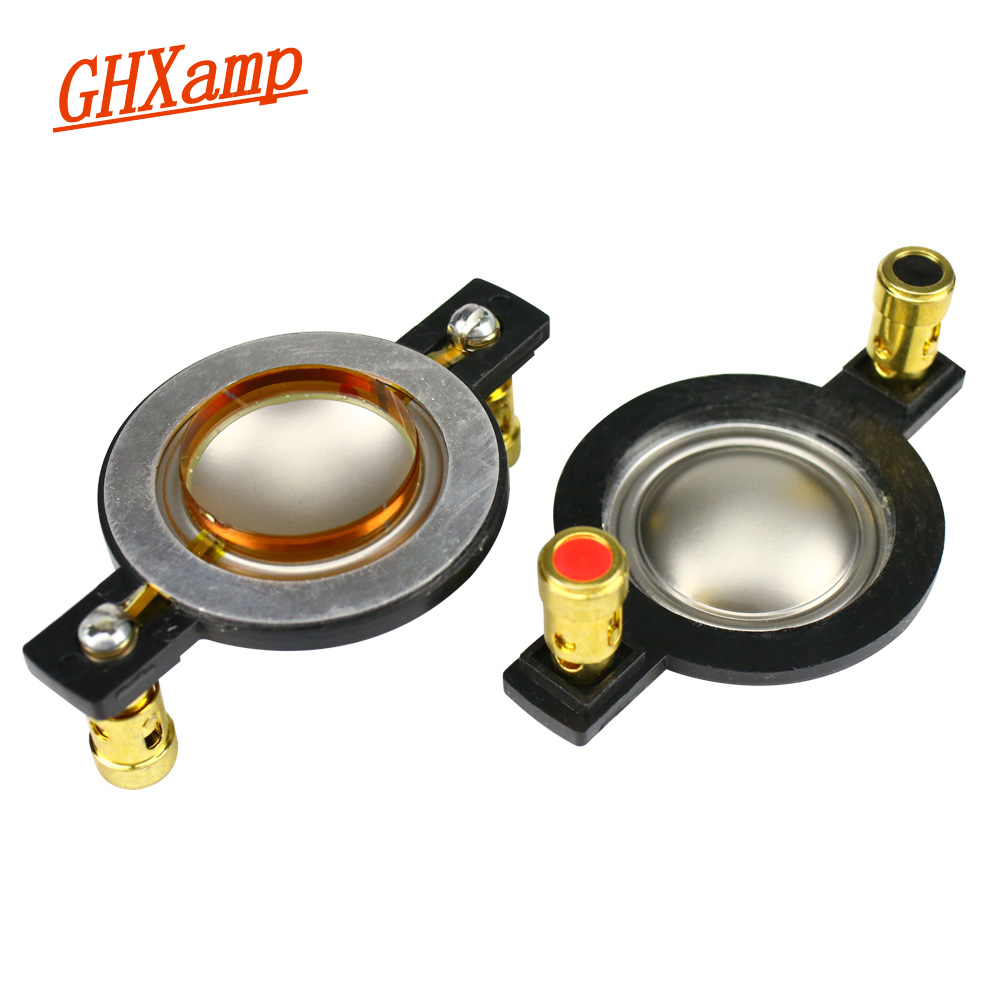Ghxamp Titanium Diaphragm 25.4mm Voice Coil Tweeter Speaker Repair Parts 8ohm  Round Copper Wire With Column 2PCS