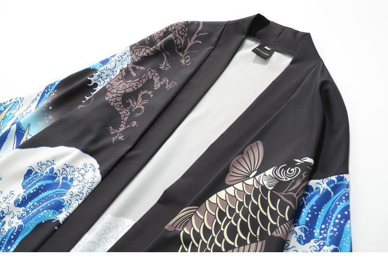 HTB1kkHqGVuWBuNjSszbq6AS7FXak Zongke Japanese Kimono Cardigan Men Wave and Carp Print Long Kimono Cardigan Men Thin Mens Kimono Cardigan Jacket Coat 2018
