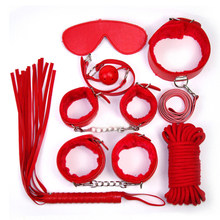 10 set/lot Sex Bondage Kit Set 7pcs Adult Sex Game Toy Bed Restraint System Sexy Product Fetish Erotic Sex Toy for Couple XN0070(China)