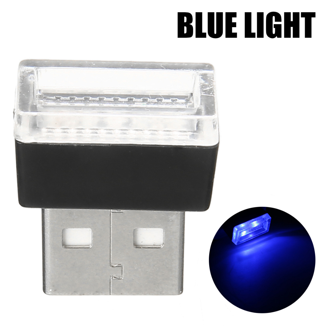 Image 2 - 1pcs Car USB LED Atmosphere Lights Decorative Lamp Emergency Lighting Universal PC Portable Plug and Play Red/Blue/White/Purple-in Decorative Lamp from Automobiles & Motorcycles