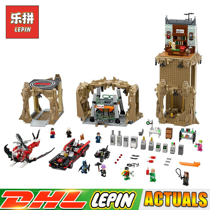 Lepin 07053 2566 PCS Super Heroes Batman Classic TV - Batcave Model Building Blocks Bricks Toys Gift Compatible LegoINGlys 76052 lepin 07053 2566pcs genuine dc batman super heroes moc batcave educational building blocks bricks toys gift for children 76052