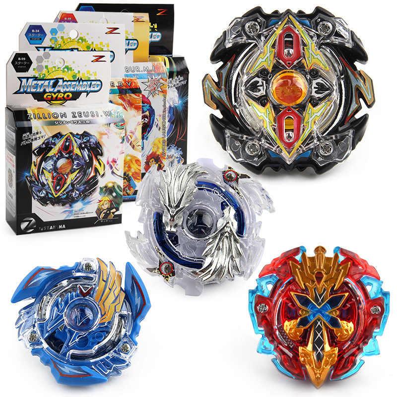Geschenkdoos Metalen Burst Gyroscoop Strijd Spinning Top Speelgoed 4 stks/set B48 B66 Met Launcher Bayblade Worden Blade Toys Voor jongen