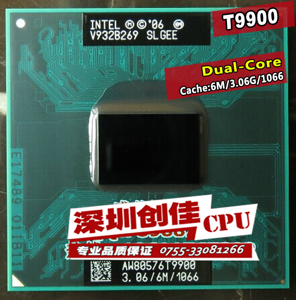 Free Shipping intel CPU laptop Core 2 Duo T9900 CPU 6M Cache/3.06GHz/1066/Dual-Core Socket 479 processor t9600 p9600 GM45 PM45