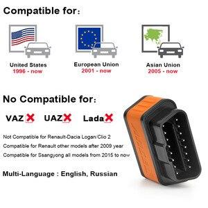 Image 2 - ELM327 escáner Ancel iCar2 icar 2 para coche, lector de código de diagnóstico con Bluetooth, Real V1.5 para Android Phone, herramienta de diagnóstico de torsión