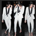 Spring Women Pantsuit White Suit Blazer Women Outerwear Business Basic Jacket & Coat Pants Female OL Blazers Work Suits Wear2017