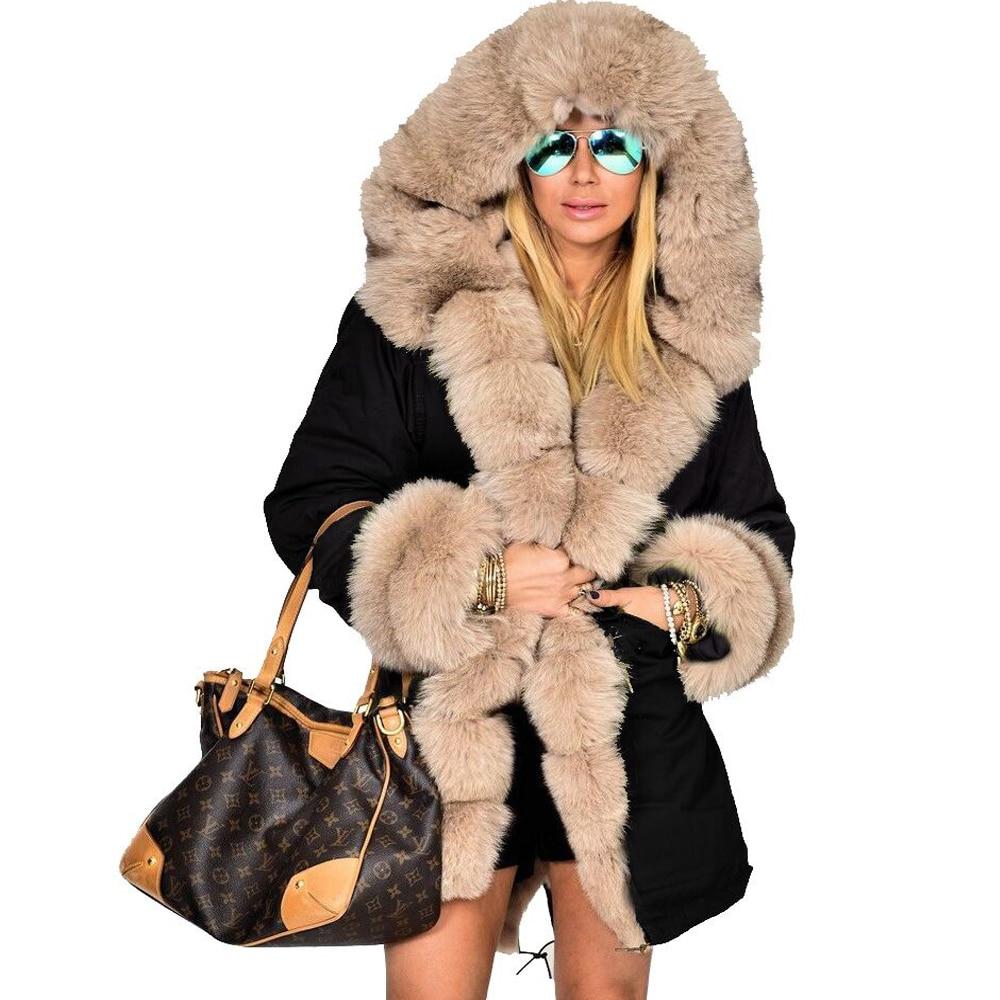 Cappotto Donna Giacca Roiii Parka Stile Caldo Casual Amry Da Con Militare  Fur Grigio Beige Faux Inverno Ispessito Lungo Cappuccio TfTrqU6 9dbb55fafa0b
