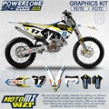 Husqvarna Husaberg Customized Team Graphics  Backgrounds Decals 3M MX Stickers Kit 2014-17 FE TE FC TC 125 250 300 350 450