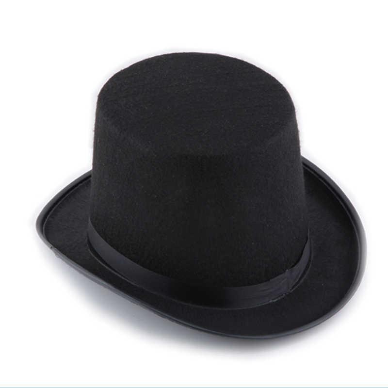 13 см/16 см высота панк черная шляпка Хэллоуин реквизит фетровые шапки Millinery/Волшебная Магия шляпа для фокусов NFE99