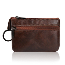 Genuine Leather High Quality Zipper Classic Vintage Retro Women Purse Coin Purses Small font b Wallet