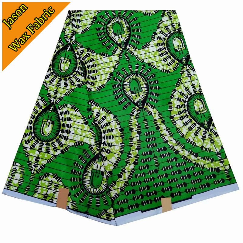 Classical style arrival green ankara fabric super wax african prints fabric wax 6yards 100%polyester fabric for dress / LBL