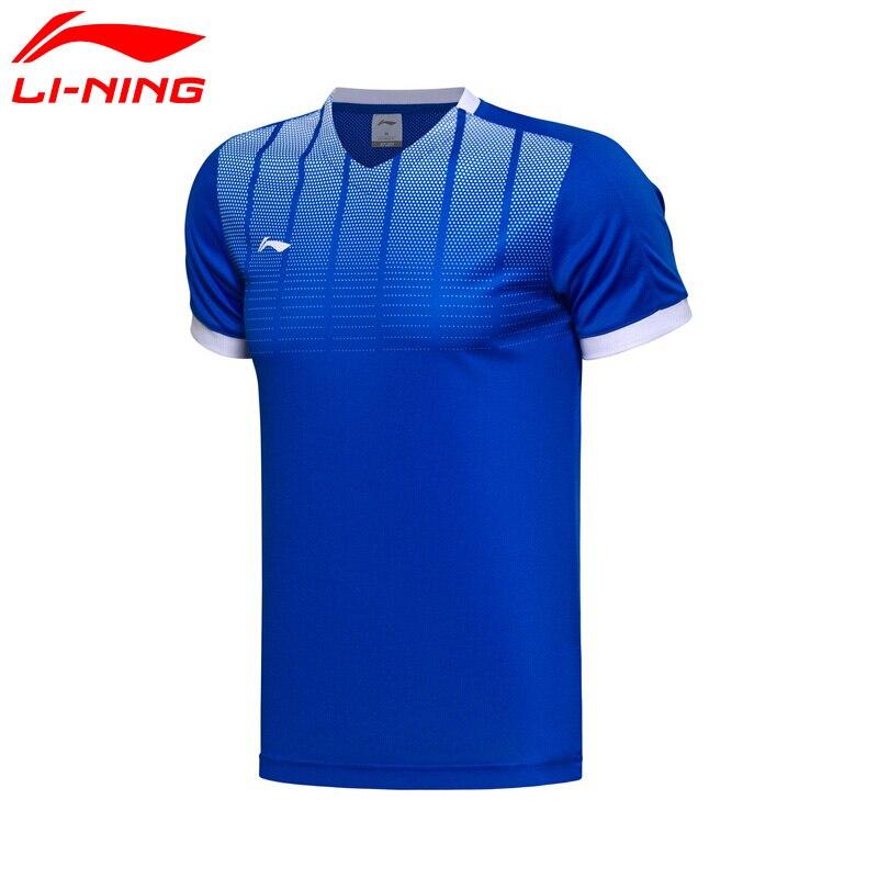 Prix pour Li-Ning Hommes de Football T-shirt Concurrence Meilleure 100% Polyester ATDry Doublure Sport Jersey Tops AAYM063 MTS2647