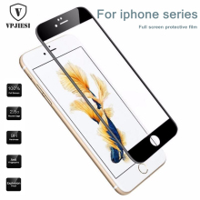 Vpjiesi 0.23 mm Screen Protector Tempered Glass For iPhone 7 6 6 s Plus Soft 3D Curved Full Cover Protection Tempered glass film