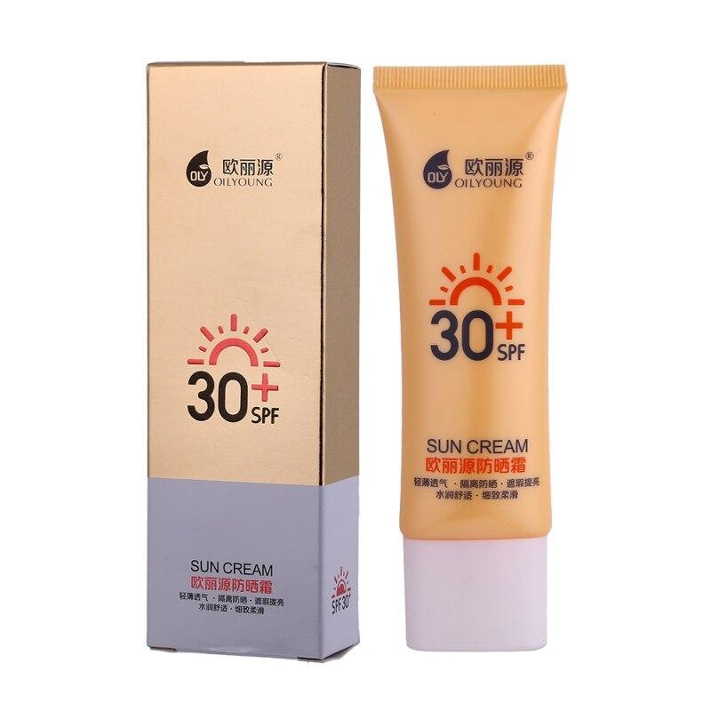 Facial Sunscreen Creams sun lotion tanning oil SPF 30 Isolation UV Sunblock Body Sunscreen Concealer