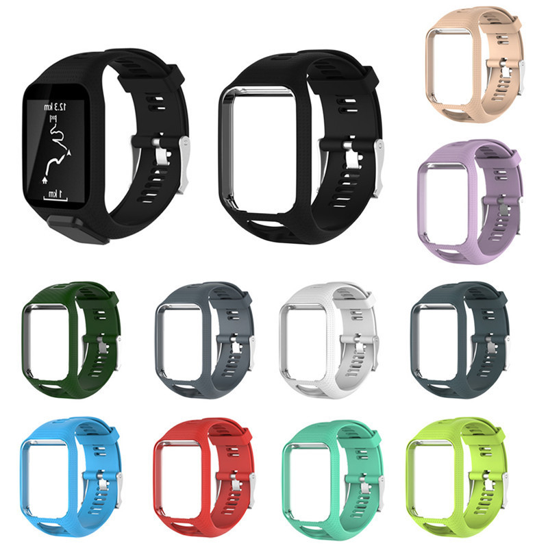 Replacement Silicagel Soft Band Strap For TomTom Runner 2 3 Series GPS Watch Silicone Replacement Soft Band for TomTom Runner2/3