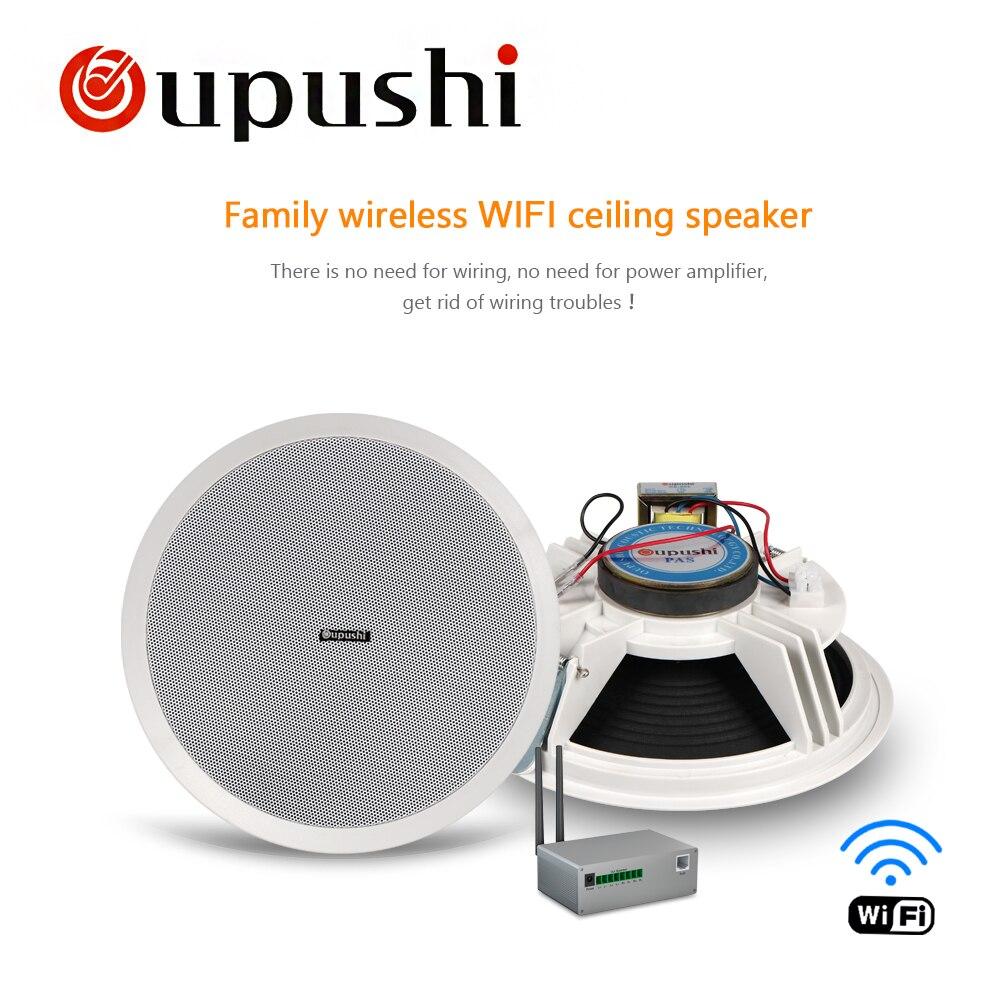 Oupush i CE802 10 W WIFI système de haut-parleur de plafond 6.5 Portable Mini haut-parleur PA gamme complète bonne qualité sonore passif haut-parleur