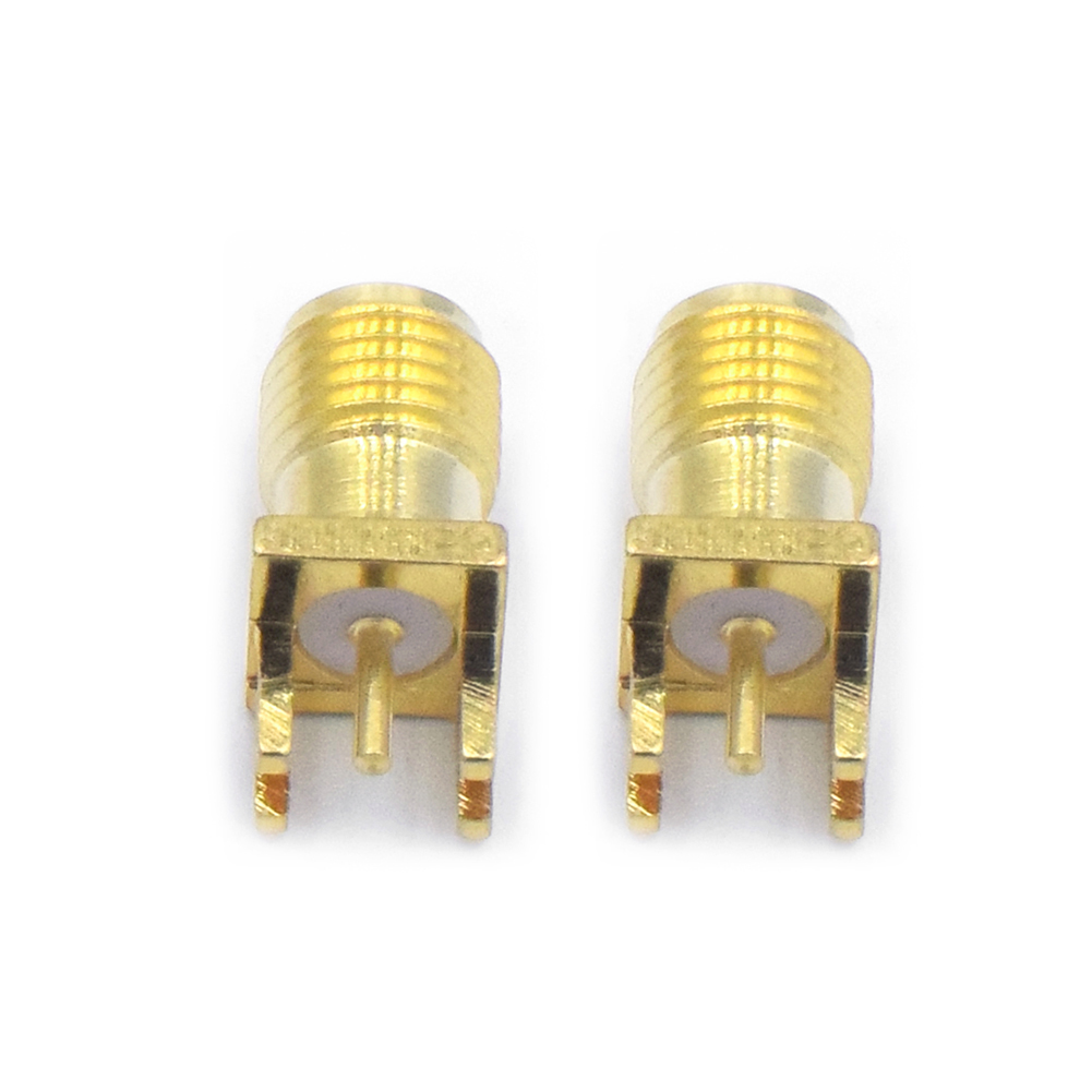 2/4/10Pcs SMA Female Connector SMA-KE PCB Mount Thru Plug Straight Solder Adapter Connector Antenna Coaxial Cable Adapter