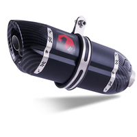 Universal Carbon Fiber Motorcycle Exhaust Pipe Muffler Motorbike Exhaust Pipe Titanium Exhaust Modified Exhaust Pipe