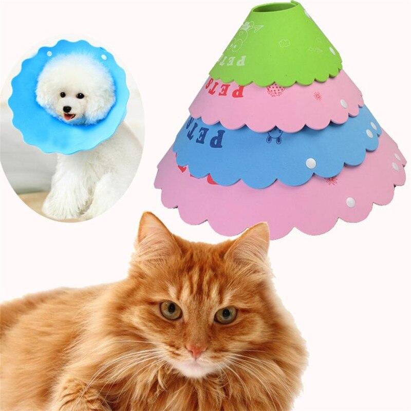 S/XL Pet Dog Cat Elizabeth Protection Ring Protection Wound Neckline Collar Stop Bite Proof Collar Rings Random Color drop ship