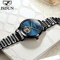 JSDUN автоматические механические часы для женщин турбийон наручные часы из тонкой стали женские наручные часы для дам Наручные часы 2018