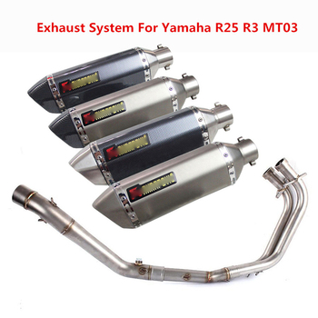 Slip On R3 R25 Motorcycle Exhaust System Front Header Pipe Muffler with DB Killer For Yamaha YZF R3 R25