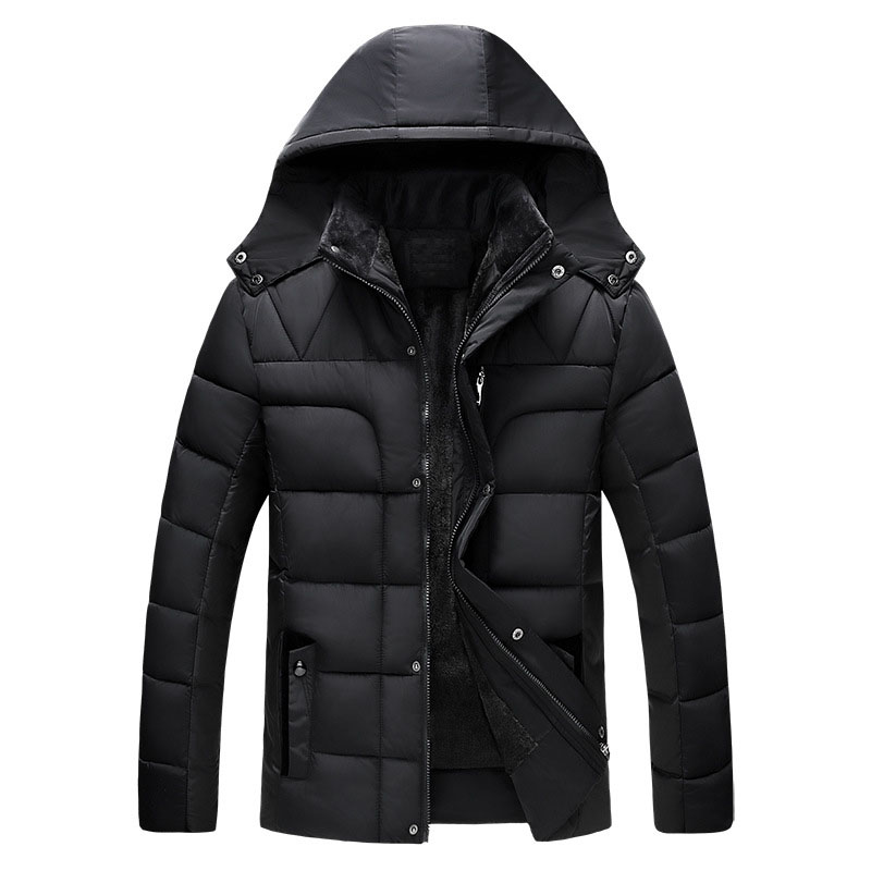 Casual Jacket Men Autumn&Winter 2017 Brand Men Cotton Jacket and Coats Casual Thick Parka Outwear Warm Solid Color Male Clothing hot sale winter jacket men fashion cotton coat warm parka homme men s causal outwear hoodies clothing mens jackets and coats