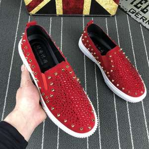 ee4c6abba6c2 FMZXG Men Casual 2018 Loafers Slip On Red Black shoes