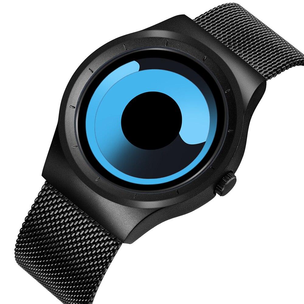 Skone Watches Men Quartz Luxury Brand Wristwatch Casual Stainless steel Mesh Band Unisex Watch Clock Girls Ladies Fashion Watch