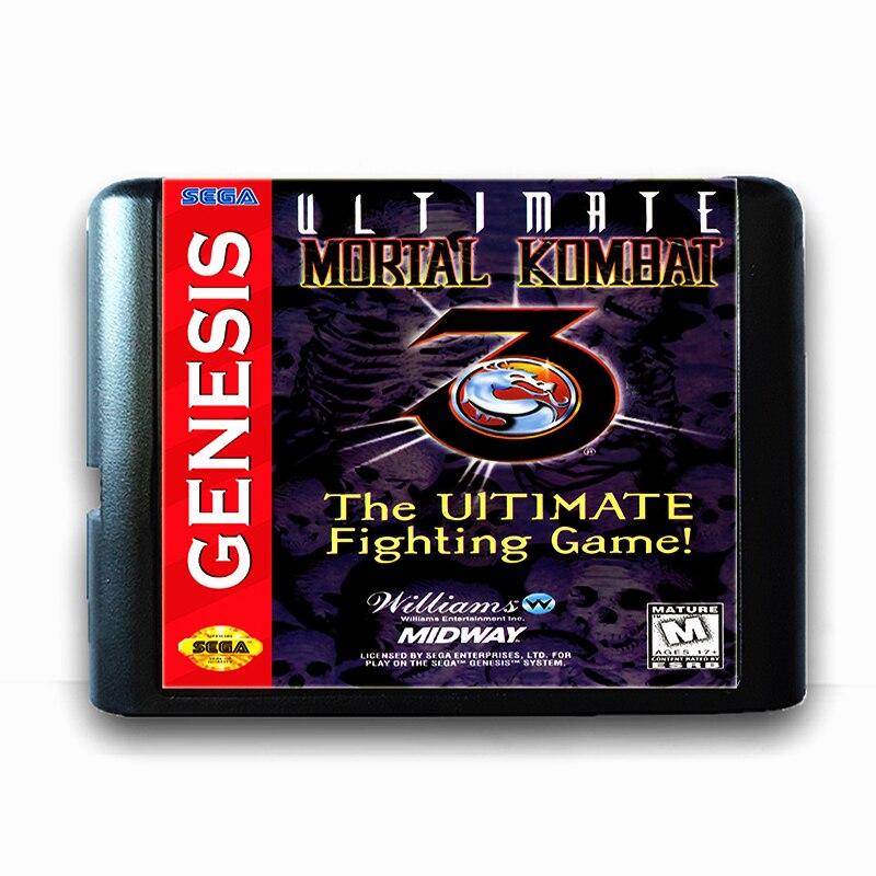 Ultimate Mortal Kombat 3 16 bit Sega MD Game Card for Mega Drive for Genesis