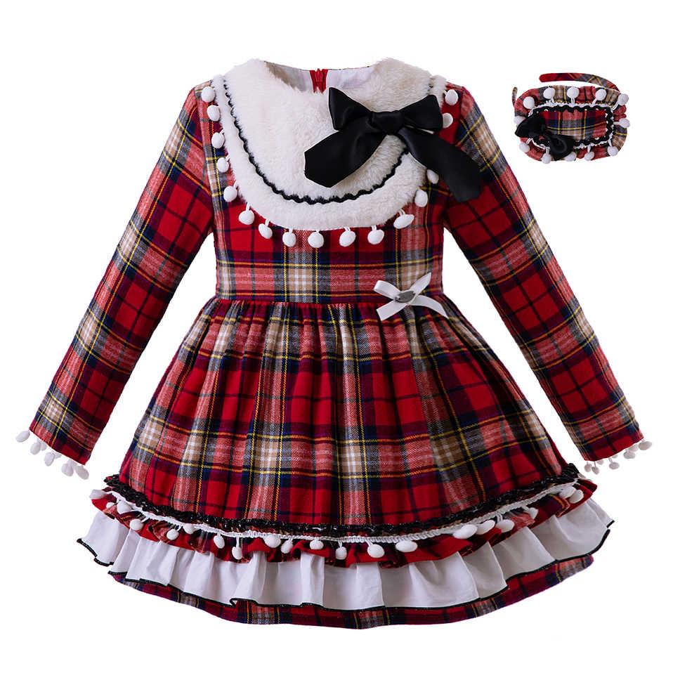 Pettigirl/новейшее рождественское праздничное платье для маленьких девочек многослойное Сетчатое платье эксклюзивная осенняя одежда для девочек G-DMGD106-B311