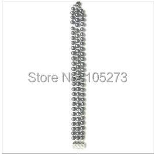 Удивительно! жемчужный браслет А. А. 6-7 мм 3 ряда черный цвет натуральной браслет пресноводного жемчуга женские ювелирные изделия Горячая nf77