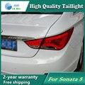 Estilo do carro Lâmpada de Cauda para Hyundai Sonata Luzes LED Tail Light Lâmpada Traseira Da Cauda LED DRL + Freio + Parque + sinal de Parada Da Lâmpada