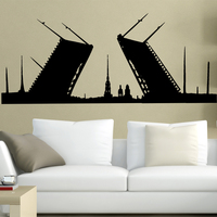 Free Shipping Home Wall Stickers Wholesale And Retail Wall Decor PVC Material Decals Wallpaper Russian Winter