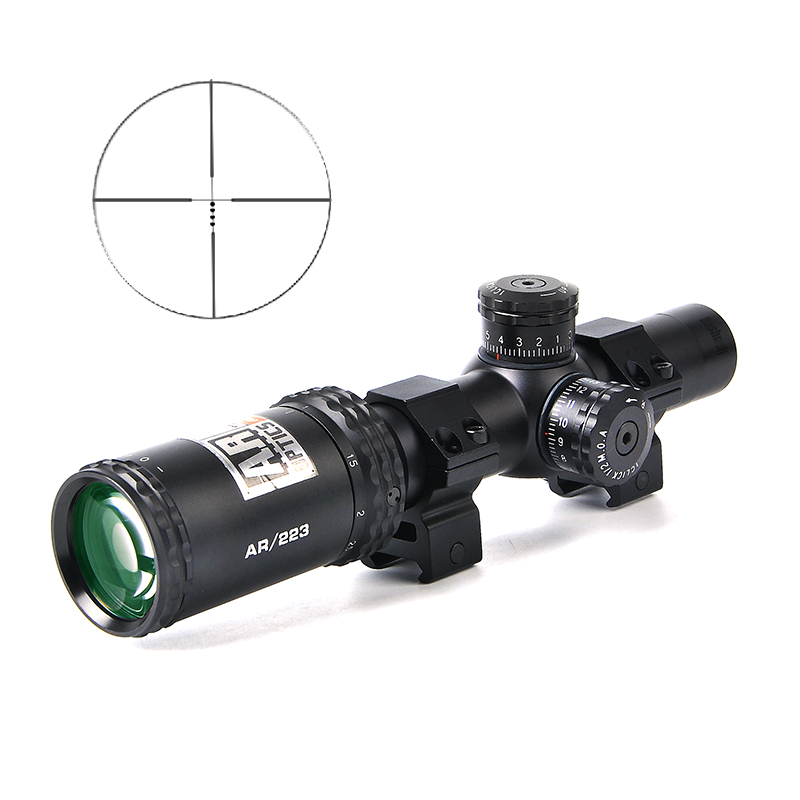 BUSHNELL 1 4x24 AR Optics Drop Zone 223 Reticle Tactical Riflescope With Target Turrets Hunting
