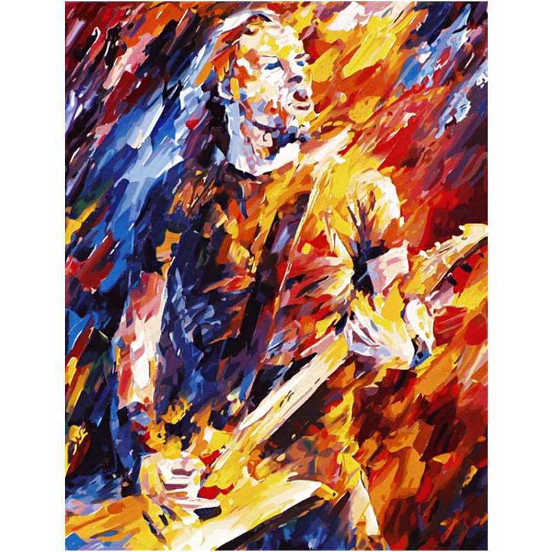 Colorful Jazz Musician Rock Roll Oil Painting Pictures By Numbers Digital Picture Coloring By Hand Unique Gift Home Decoration