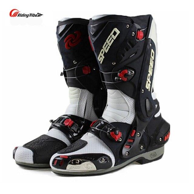 Bottes de moto en cuir  antidérapantes garantit le confort de conduite 2