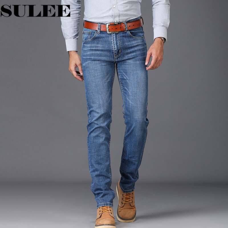 Sulee Brand 2018 New Spring Summer Fashion Jeans Men Causal Denim Pants Long Trousers Slim Fit Brand Clothing полка new brand 3pcs 20 30 slim fit ts079