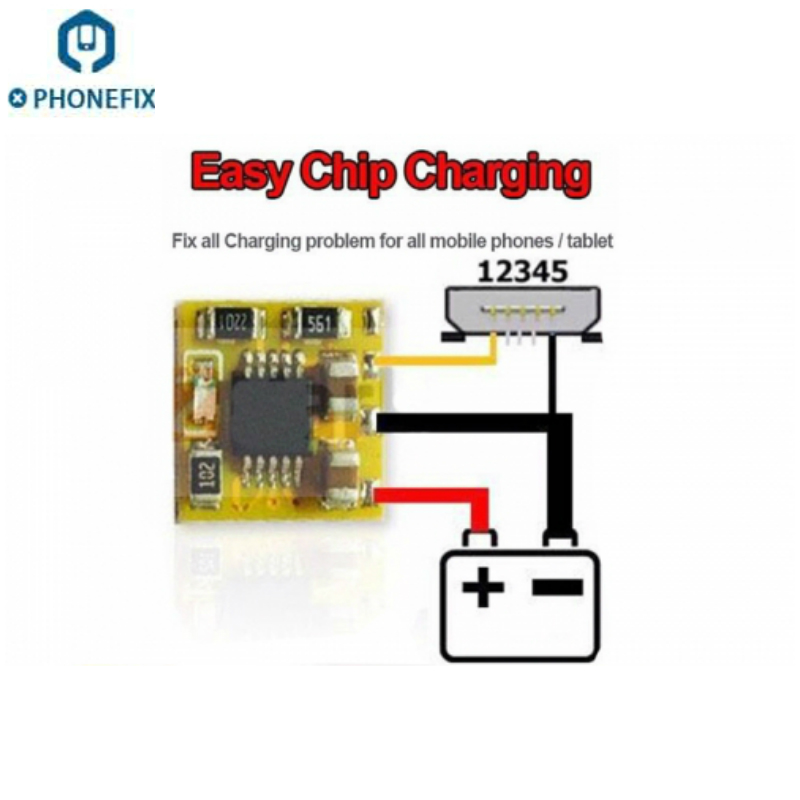 PHONEFIX 5pcs ECC Easy Chip Charge Easy Chip LED Repair All Charge Problem for iPhone Repair Mobile Phone Replacement Parts