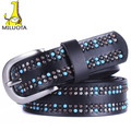 [MILUOTA] Fashion 100% Genuine Leather Belt woman Pearl decoration cintos femininos Metal Pin Buckle Belts For Women DE042