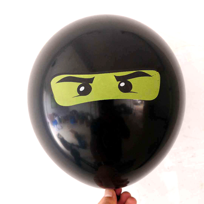 Image 3 - 10Pcs/lot Legoing Ninjagoing Theme Balloons for Boys Kids Birthday Party Decoration 12inch Latex Ninjago Balloon Party Supplies-in Ballons & Accessories from Home & Garden